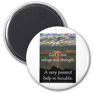 Psalm 46:1 - Beautiful Sunrise over Lake Michigan Magnet