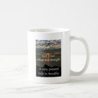 Psalm 46:1 - Beautiful Sunrise over Lake Michigan Classic White Coffee Mug