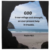 Psalm 46:1 God is our refuge and strength... Napkin