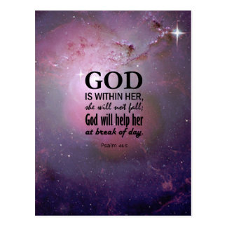 Psalm 46:5 postcard