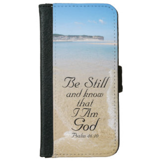 Psalm 46 Be Still and Know I AM GOD, Ocean View iPhone 6/6s Wallet Case