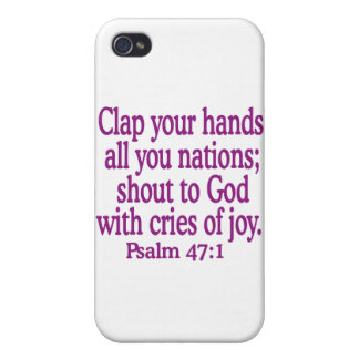 Psalm-47-1 Cover For iPhone 4