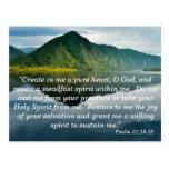 Psalm 51 10 - 12 Scripture Memory Card Postcard