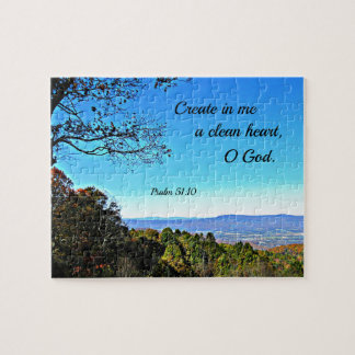 Psalm 51:10 Create in me a clean heart.. Jigsaw Puzzle
