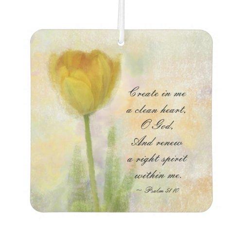Psalm 5110 Create in me a clean heart O God Air Freshener