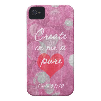 Psalm 51:10 Create In Me A Pure Heart Bible Verse iPhone 4 Cover