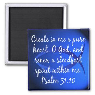 Psalm 51:10 magnet