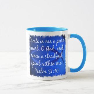 Psalm 51:10 mug