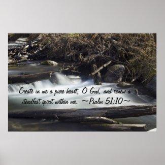 Psalm 51:10 Poster print