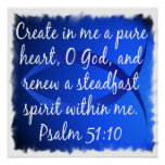 Psalm 51:10 poster