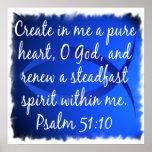 Psalm 51:10 print