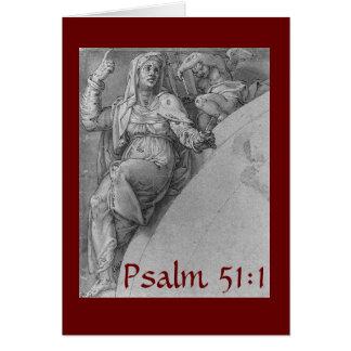 Psalm 51:1Card Greeting Card