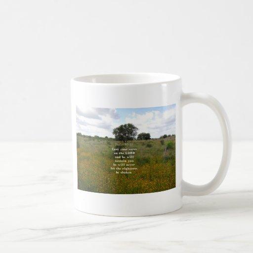 Psalm 55.22 classic white coffee mug
