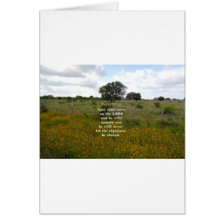Psalm 55.22 greeting card