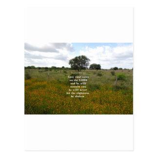 Psalm 55.22 postcard