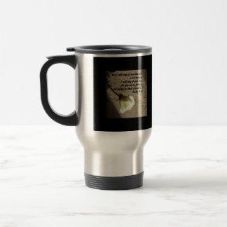 Psalm 59:16 White Rose Coffee Mugs
