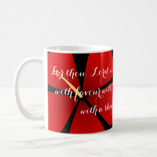 Psalm 5:12 Red Tropical Hibiscus Bible Verse Mug
