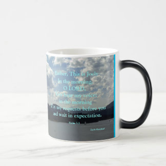 Psalm 5:3, customized for Joel 3 Magic Mug