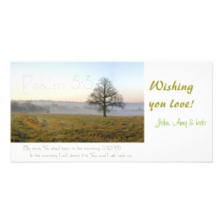 Psalm 5:3 Scripture photocard Photo Card