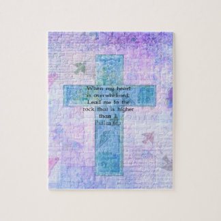 Psalm 61:2 Beautiful Bible verse & Christian art Jigsaw Puzzle