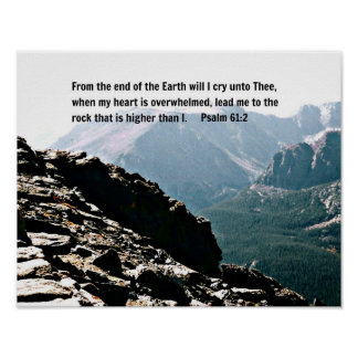 Psalm 61:2 From the end of the Earth... Posters