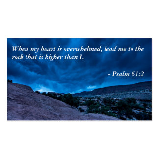 Psalm 61:2 Gathering Storm Business Card