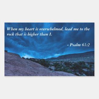 Psalm 61:2 Gathering Storm Rectangular Sticker