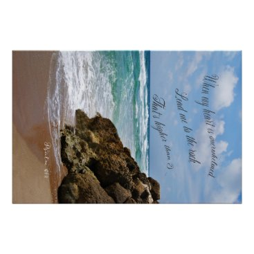 Beach Themed Psalm 61 poster
