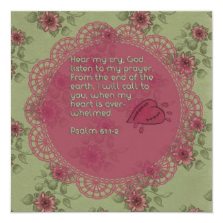 Psalm 61 scripture prayer card