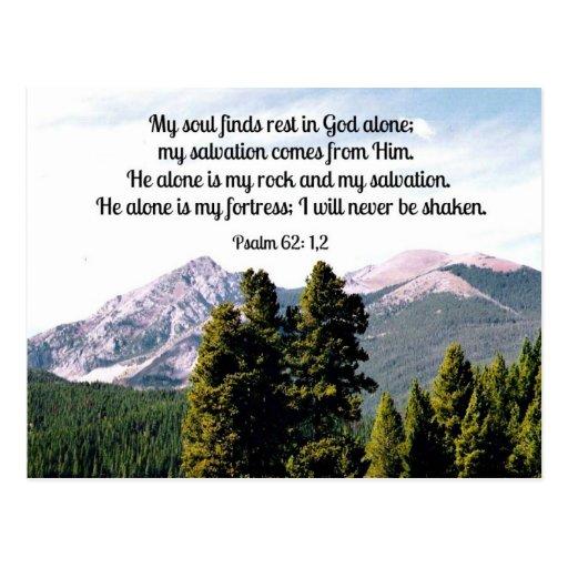 Psalm 62:1,2 post card