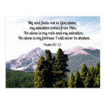 Psalm 62:1,2 postcard