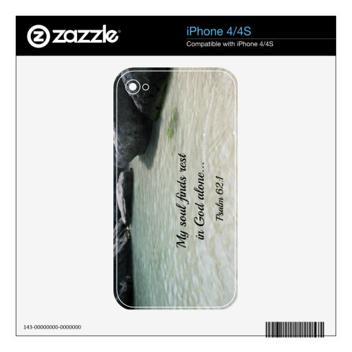 Psalm 62:1 iPhone 4 decal