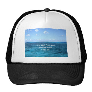Psalm 62 1 My soul finds rest Hats