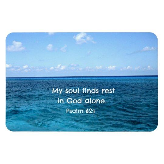 Psalm 62:1 My soul finds rest... Magnet