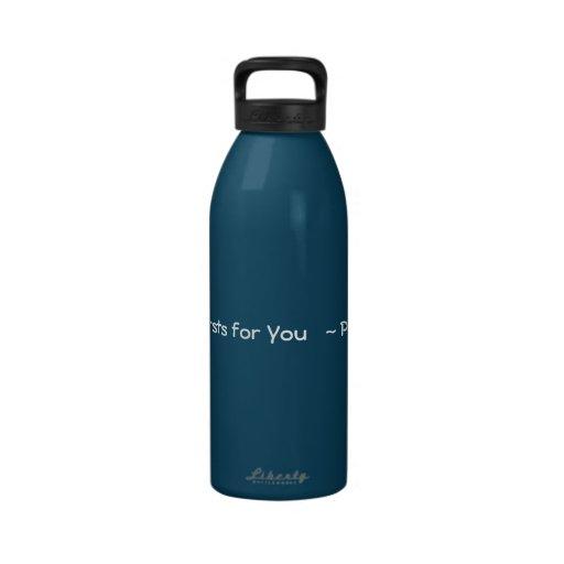 Psalm 63:1 - blue/white Liberty Bottle Reusable Water Bottle