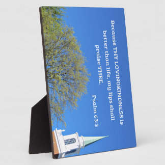 Psalm 63:3 Because thy lovingkindness is better Plaque