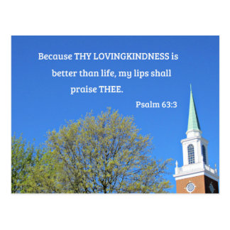Psalm 63:3 Because thy lovingkindness is better Postcard