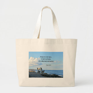 Psalm 68:19 Praise be to the Lord, to God .... Jumbo Tote Bag