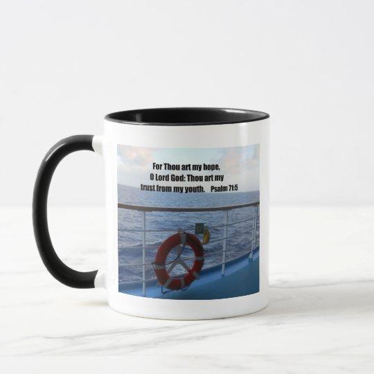 Psalm 71:5 mug
