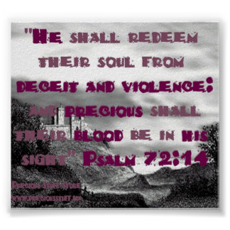 Psalm 72:14 poster