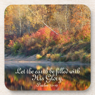 Psalm 72:19 Bible Verse God's Glory Coasters
