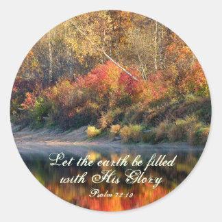 Psalm 72:19 Bible Verse God's Glory Stickers