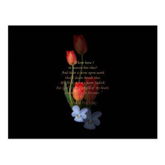 Psalm 73: 25-26 Tulips Postcard