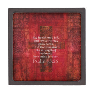 Psalm 73:26 Inspirational BIBLE verse Gift Box