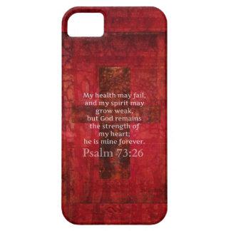 Psalm 73:26 Inspirational BIBLE verse iPhone SE/5/5s Case
