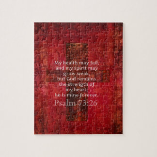 Psalm 73:26 Inspirational BIBLE verse Jigsaw Puzzles