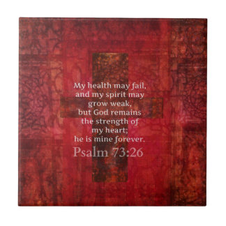 Psalm 73:26 Inspirational BIBLE verse Small Square Tile