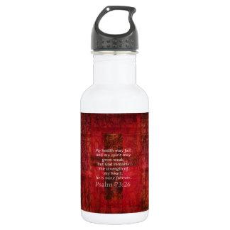 Psalm 73:26 Inspirational BIBLE verse Water Bottle
