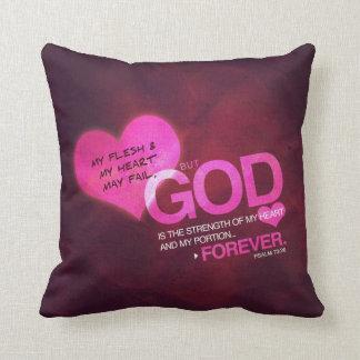 Psalm 73:26 - Pink Pillow