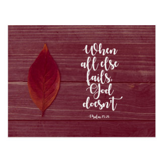 Psalm 73:26 - When all else fails Postcard